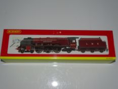 "OO Gauge Model Railways: A HORNBY R2230 Duchess class steam locomotive in LMS maroon livery ""Duchess"