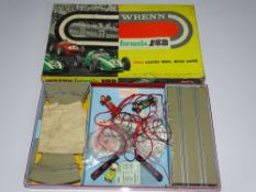 A WRENN Formula 152 Slot Car Racing Set - includes 2 cars and accessories - appears complete - V