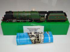 OO Gauge Model Railways: A WRENN W2228 Duchess Class steam locomotive in BR Green 'City of