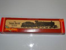 OO Gauge Model Railways: A HORNBY R830 Saint Class steam locomotive in Great Western Green livery '