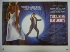 JAMES BOND: THE LIVING DAYLIGHTS (1987) - UK Quad Film Poster - The poster design is based on a