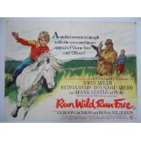 A Group of mixed UK Quad Film Posters - to include: RUN WILD RUN FREE (1969); FOUL PLAY (1976);