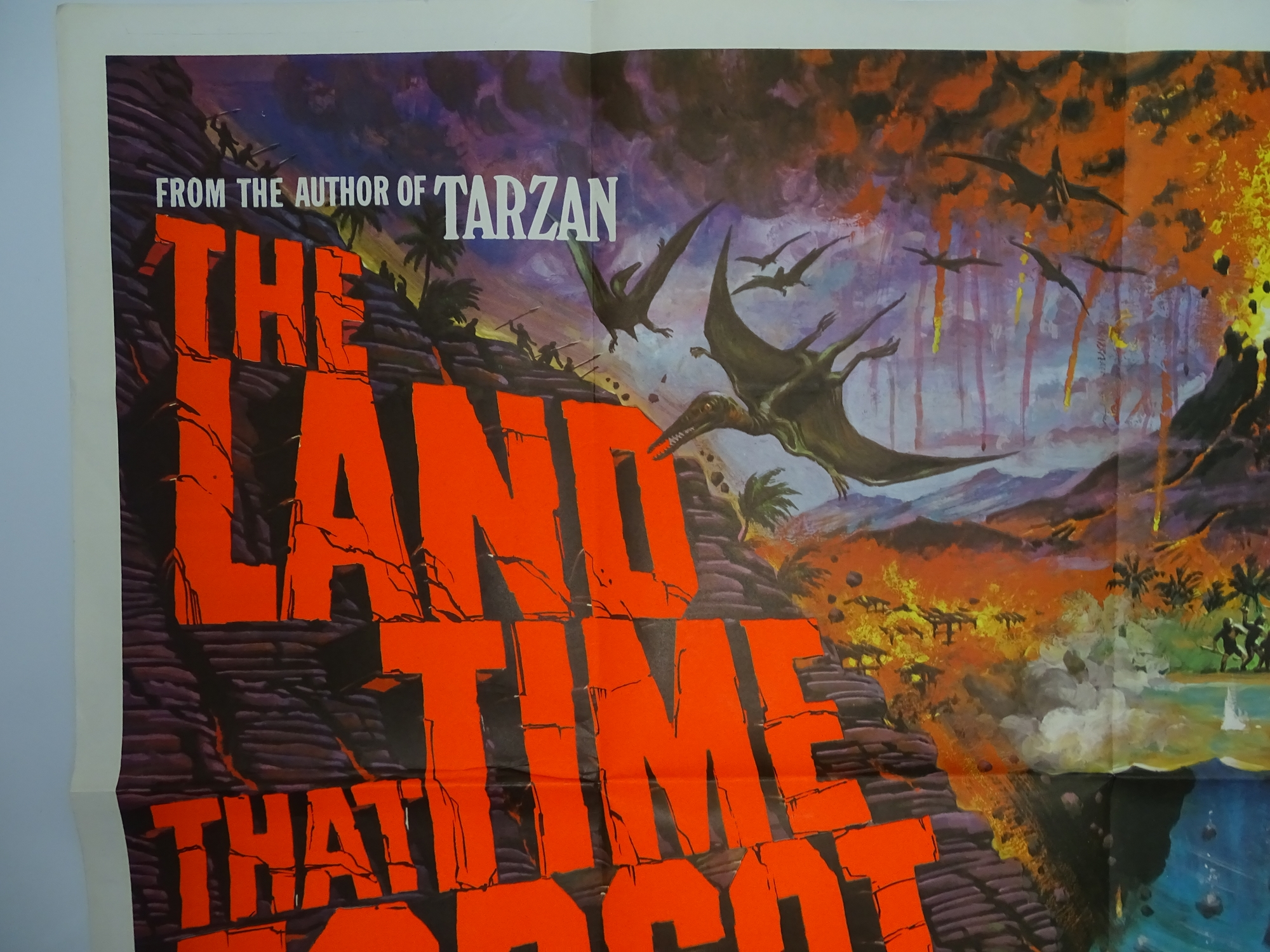 """THE LAND THAT TIME FORGOT (1975) - Artwork by Tom Chantrell British UK Quad Film Poster - 30"""" x - Image 3 of 6"""