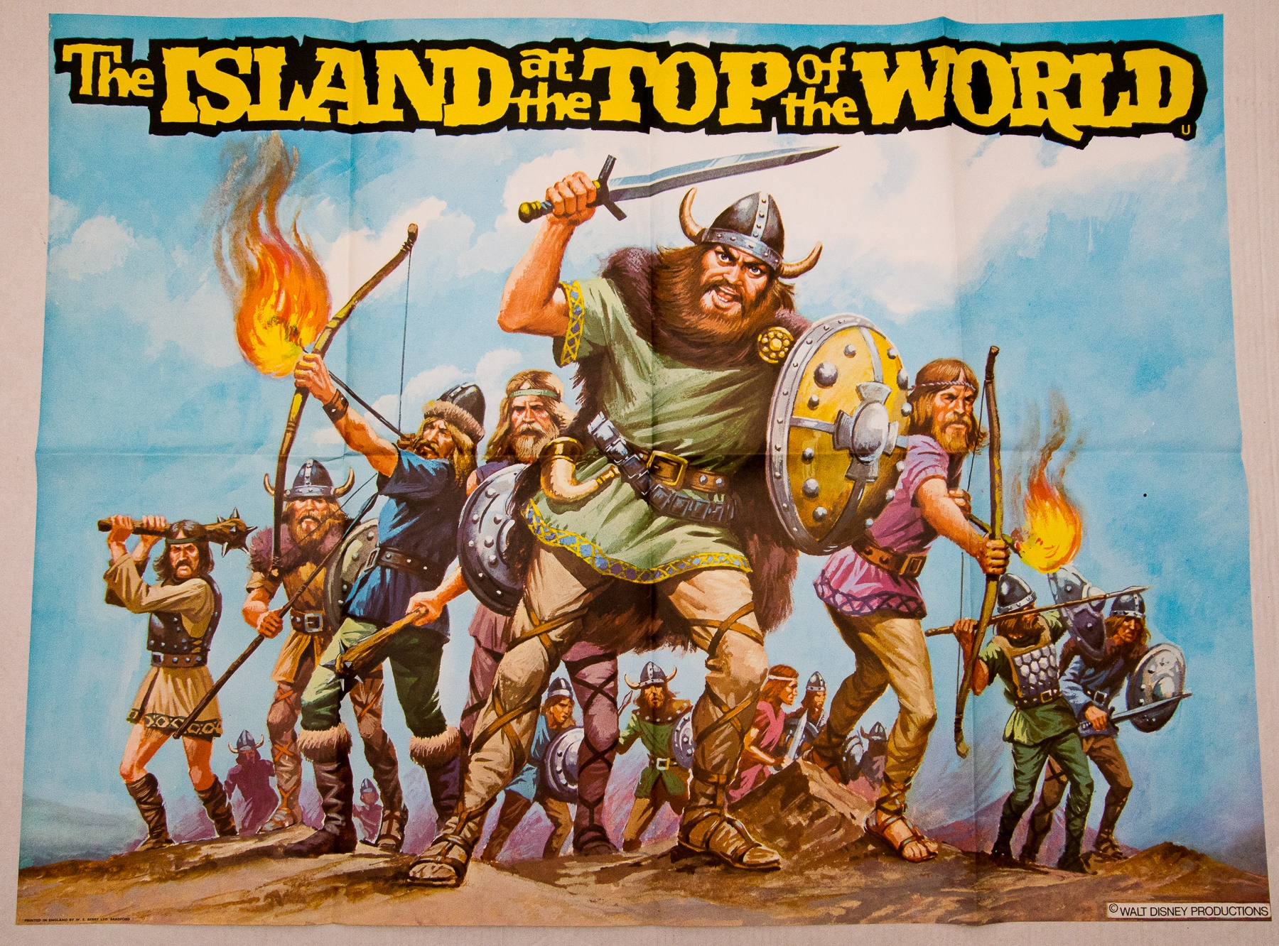 ISLAND AT THE TOP OF THE WORLD LOT (1974) - (3 in Lot) - 3 x UK Quad Film Posters - Main design, ' - Image 3 of 3