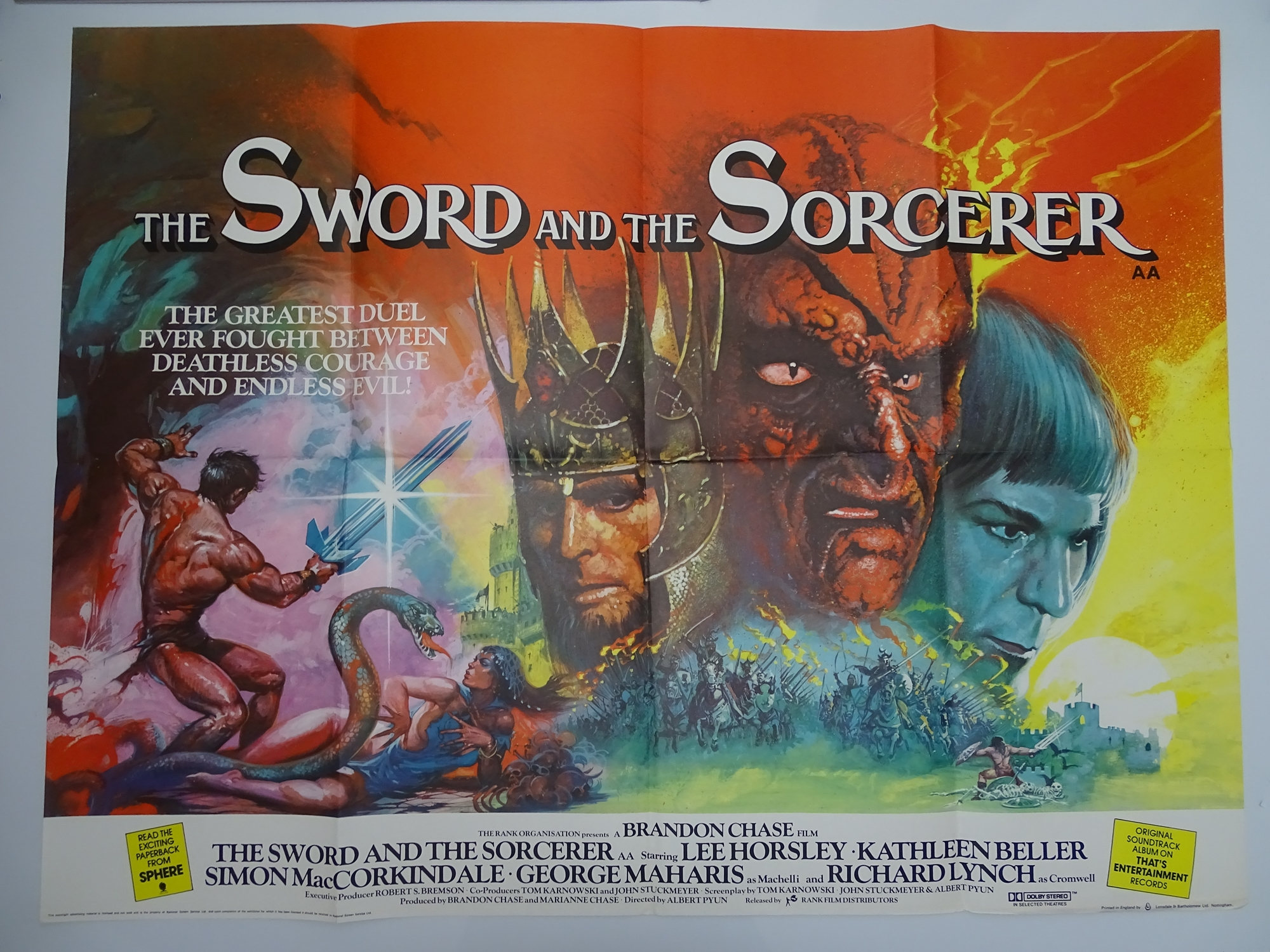 Group of 1970s/80s - UK Quad Film Posters: ANDROID (1982); THE BROOD (1979); SLAVERS (1978); - Image 6 of 6