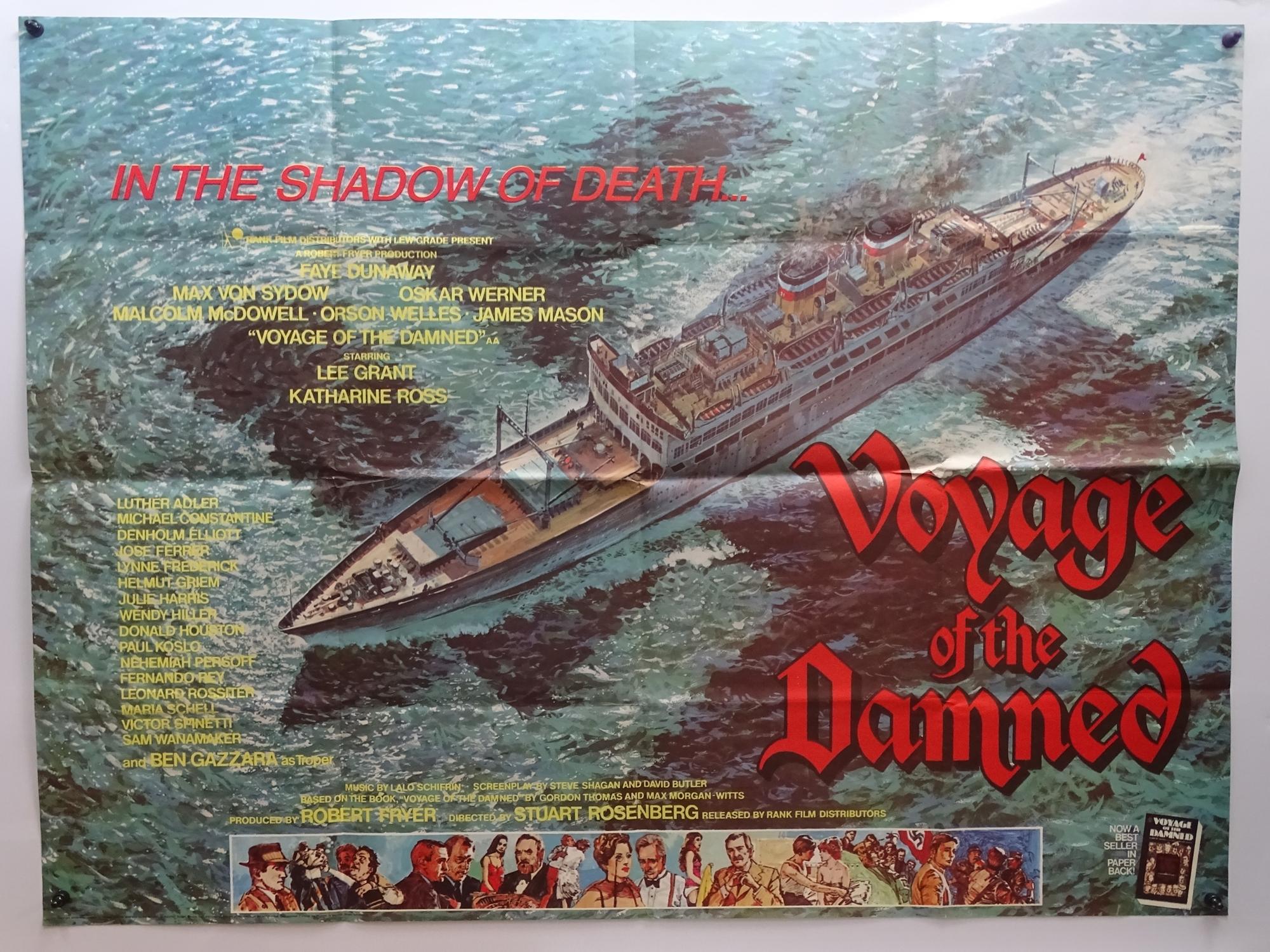 "VOYAGE OF THE DAMNED (1976) British UK Quad Film Poster - 30"" x 40"" (76 x 101.5 cm)"