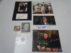 AUTOGRAPHS: JAMES BOND: CASINO ROYALE and QUANTUM OF SOLACE: A group of autographs - mainly signed