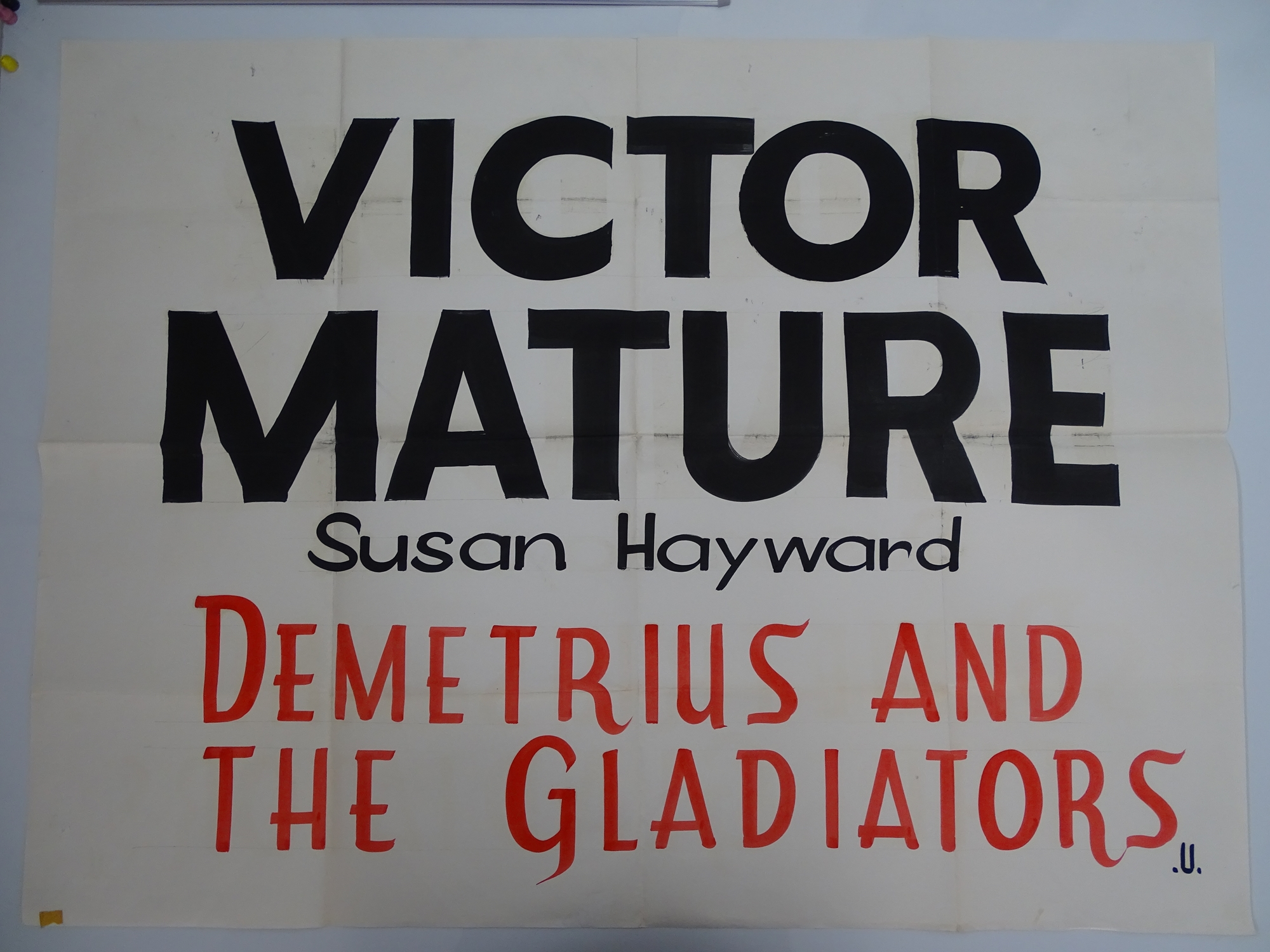 A selection of hand written - British UK Quad film posters - an important part of film history - - Image 5 of 9