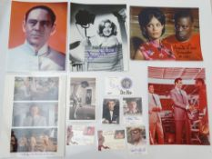AUTOGRAPHS: JAMES BOND: FROM RUSSIA WITH LOVE and DR NO: A group of autographs - mainly signed