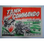 Group of 1950s UK Quad Film Posters: TANK COMMANDO (1959); THE DAY THEY ROBBED THE BANK OF