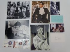 AUTOGRAPHS: JAMES BOND: ON HER MAJESTY'S SECRET SERVICE: A group of autographs - mainly signed