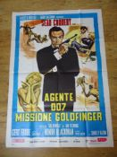 "JAMES BOND: GOLDFINGER (1964) (1980 re-release) - Italian 2 Fogli 39"" x 55"""