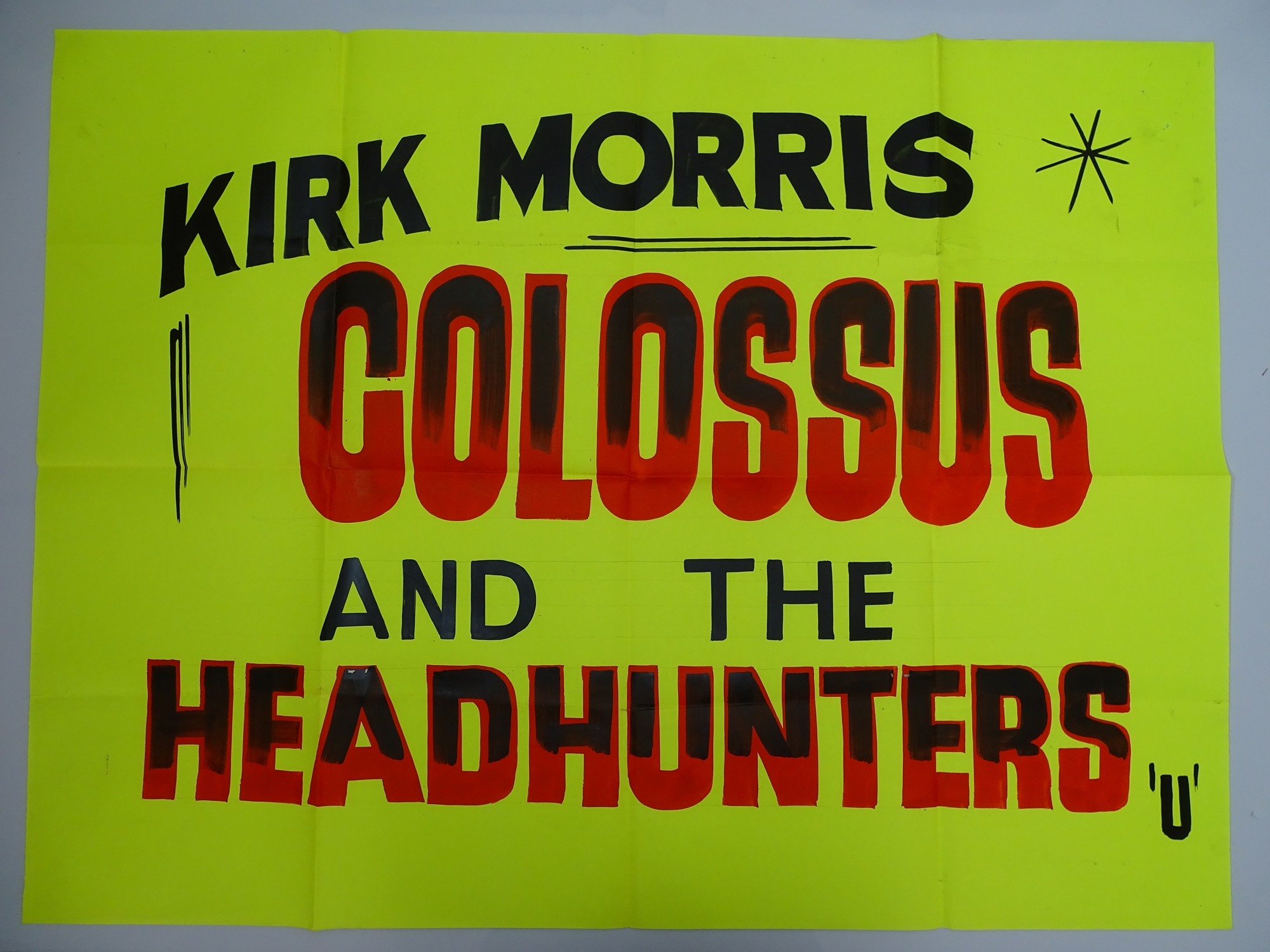 A selection of hand written - British UK Quad film posters - an important part of film history - - Image 7 of 9
