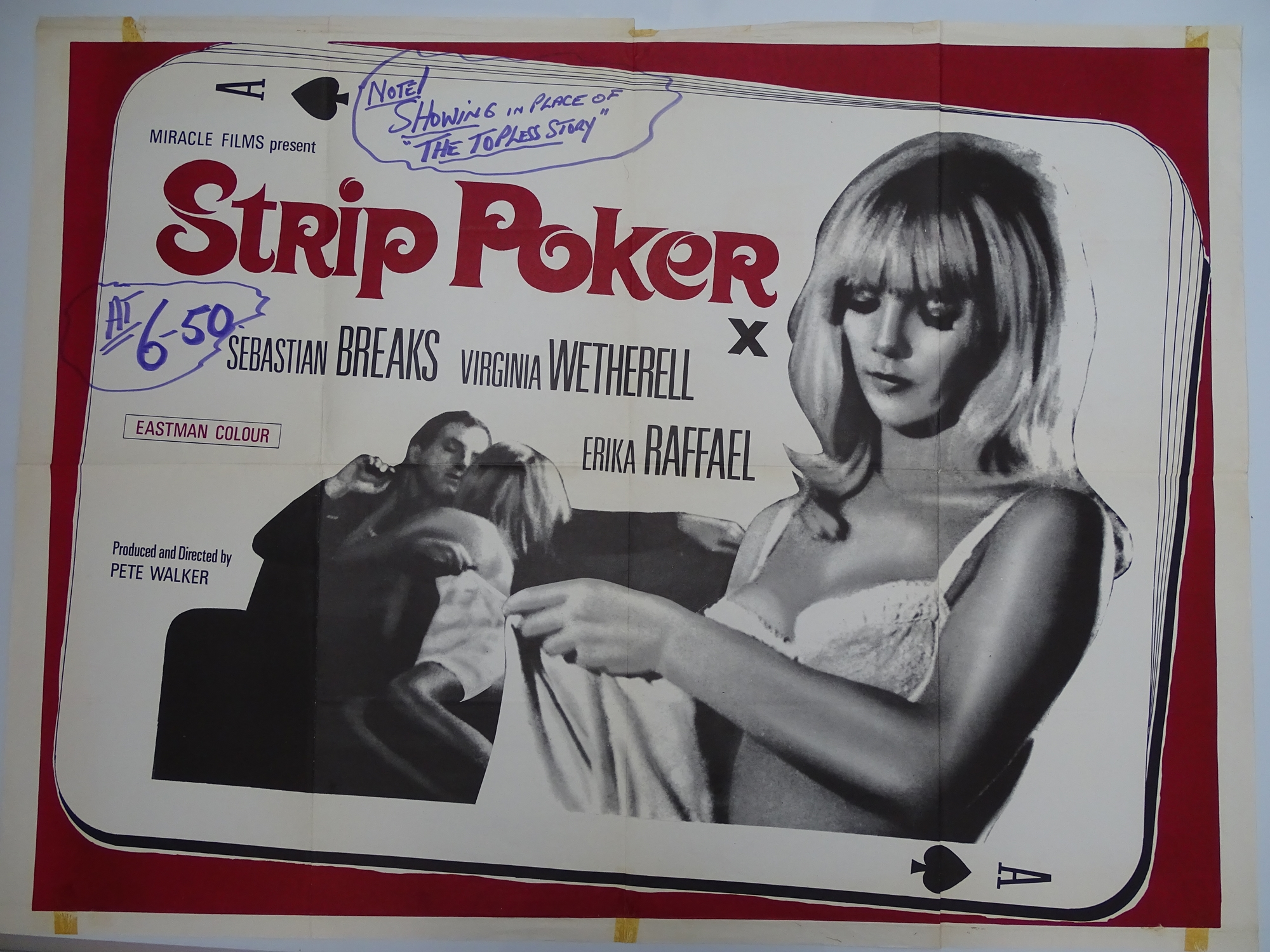 Selection of UK Quad Film Posters: GYMSLIP LOVERS / TEENAGE HITCH HIKERS; NAUGHTY NURSES / SEX - Image 9 of 10
