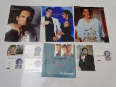AUTOGRAPHS: JAMES BOND: THE LIVING DAYLIGHTS and LICENCE TO KILL: A group of autographs - mainly