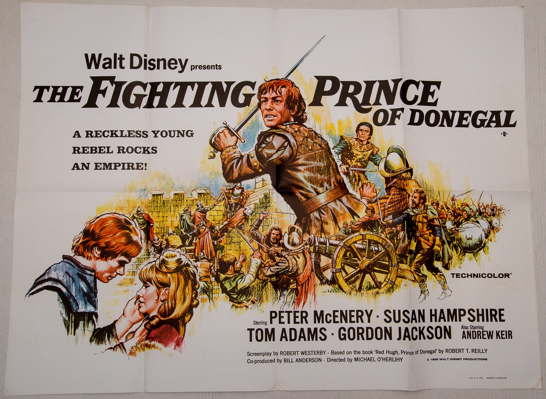 Group of mixed 1960s UK Quad/ One Sheet Film Posters to include: FLIGHT OF THE WHITE STALLIONS ( - Image 2 of 4