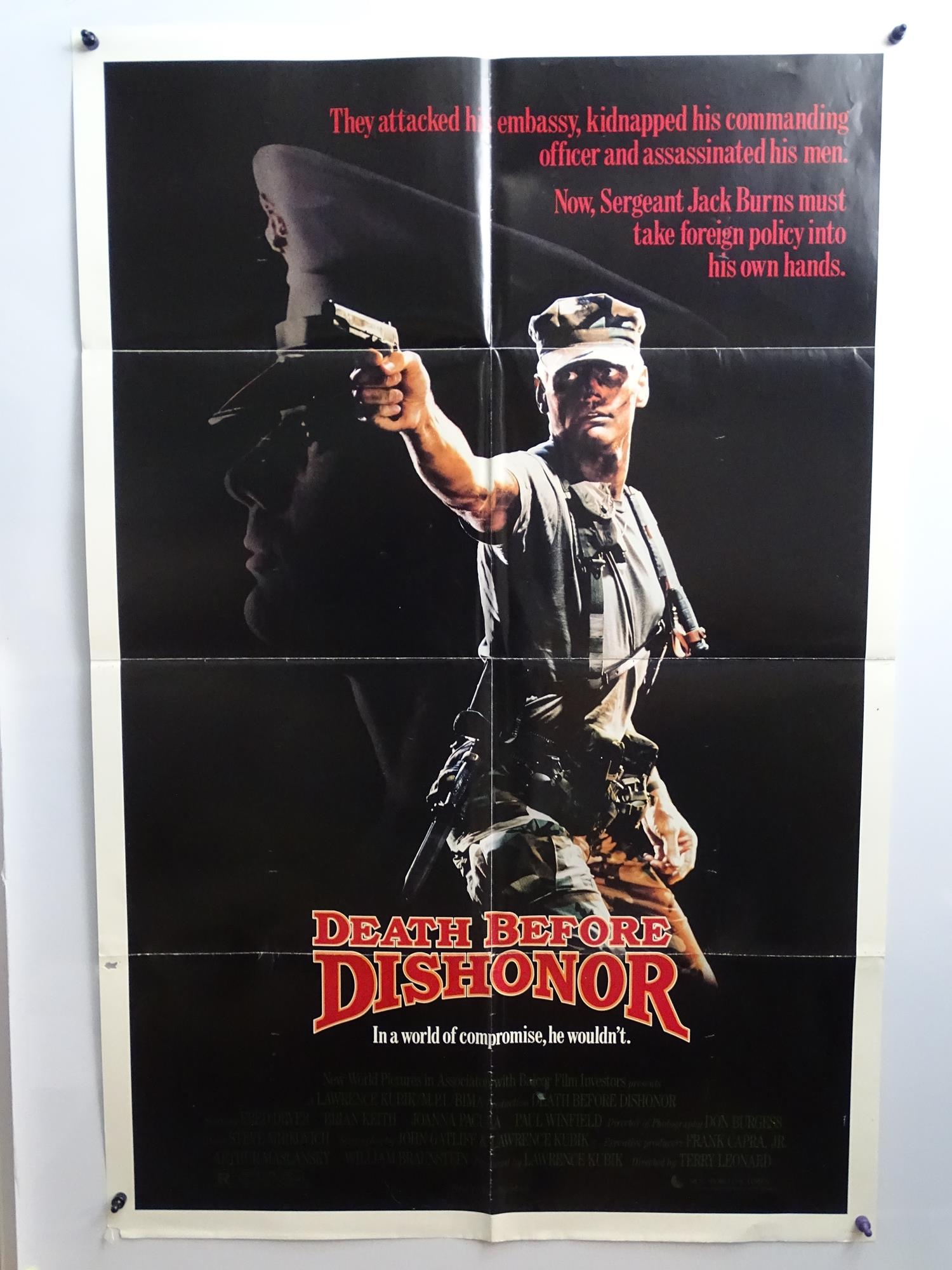 JOB LOT OF 15 X US ONE SHEET MOVIE POSTERS: FORCED VENGEANCE (1982); INVASION USA (1985); DEATH - Image 6 of 15