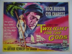 "TWILIGHT FOR THE GODS (1958) - British UK Quad film poster - 30"" x 40"" (76 x 101.5 cm)"