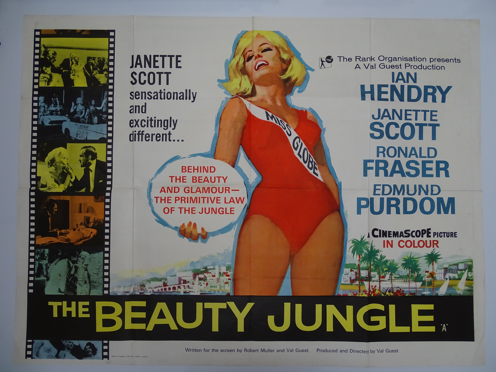 Group of mixed UK Quad Film Posters: To include: THE ATOMIC KID (MICKEY ROONEY) (1955) ; ) ; FLAME - Image 4 of 8