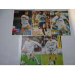 AUTOGRAPHS: 1990S/2000S FOOTBALLERS - LEEDS UNITED FOOTBALL CLUB: A selection of 5 autographed