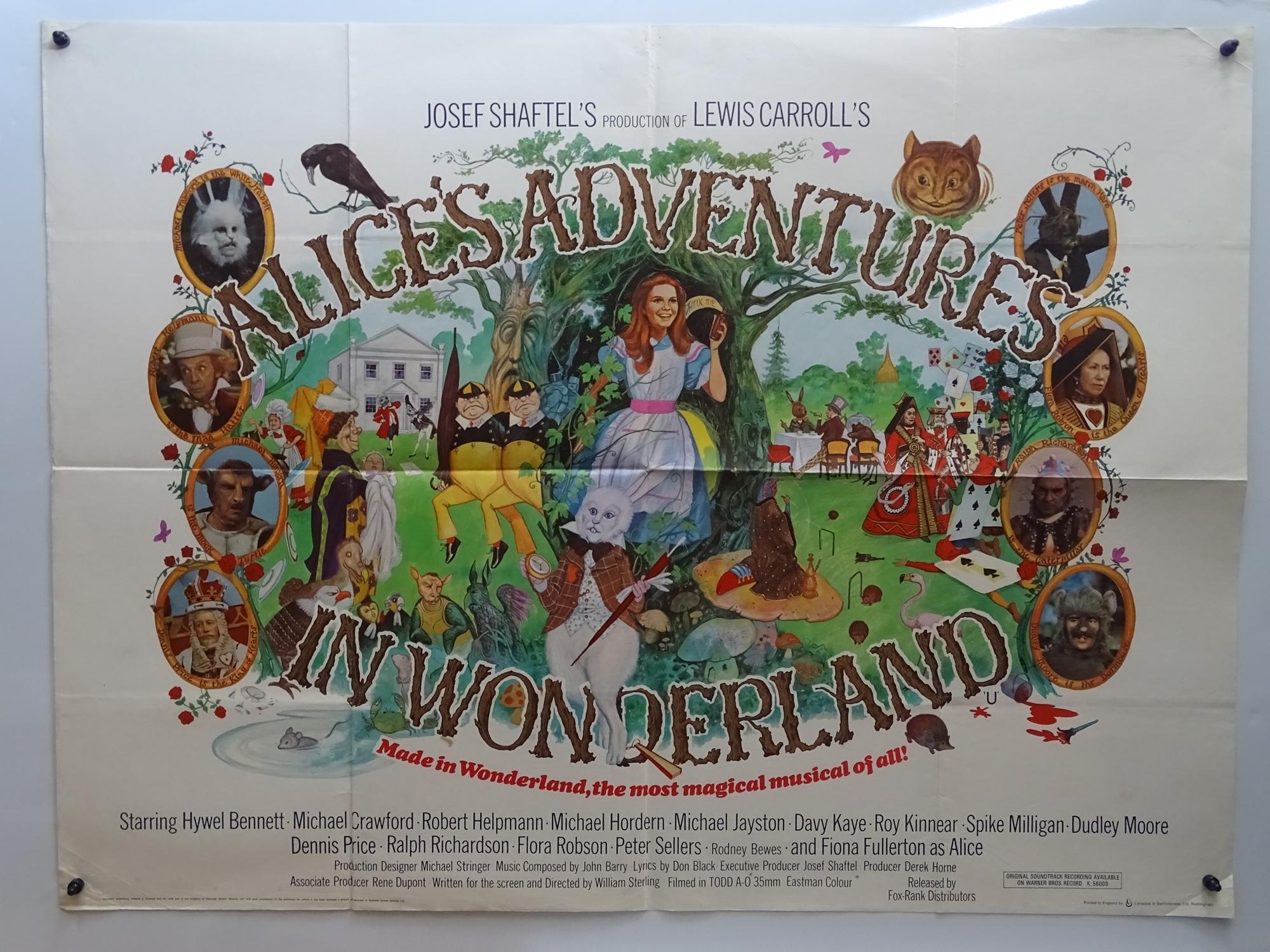 """ALICE'S ADVENTURES IN WONDERLAND (1972) British UK Quad Film Poster - 30"""" x 40"""" (76 x 101.5 cm) ("""