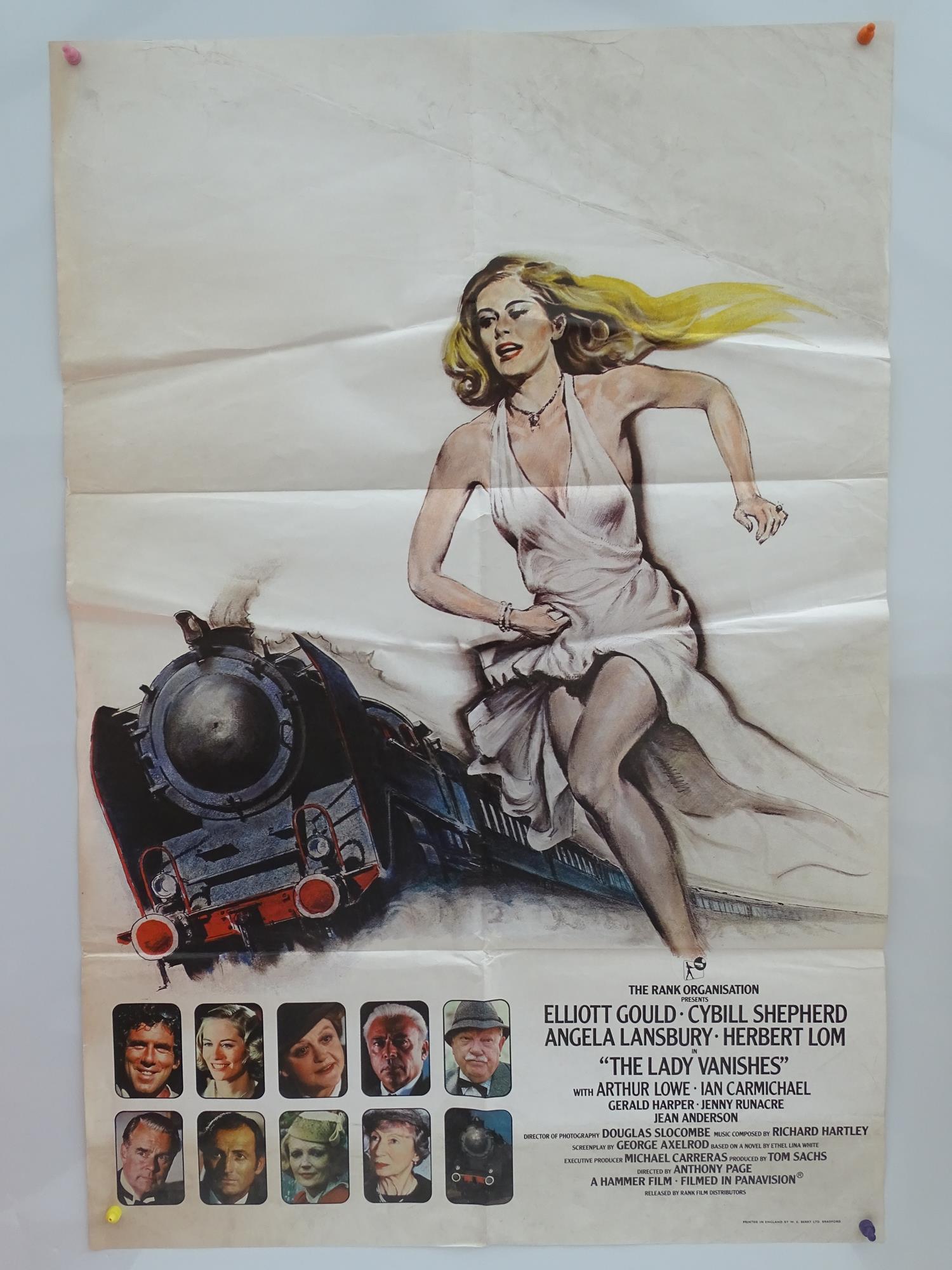 THE LADY VANISHES (1979) - British One Sheet Movie Poster - Elliott Gould, Sybil Shepherd, Angela