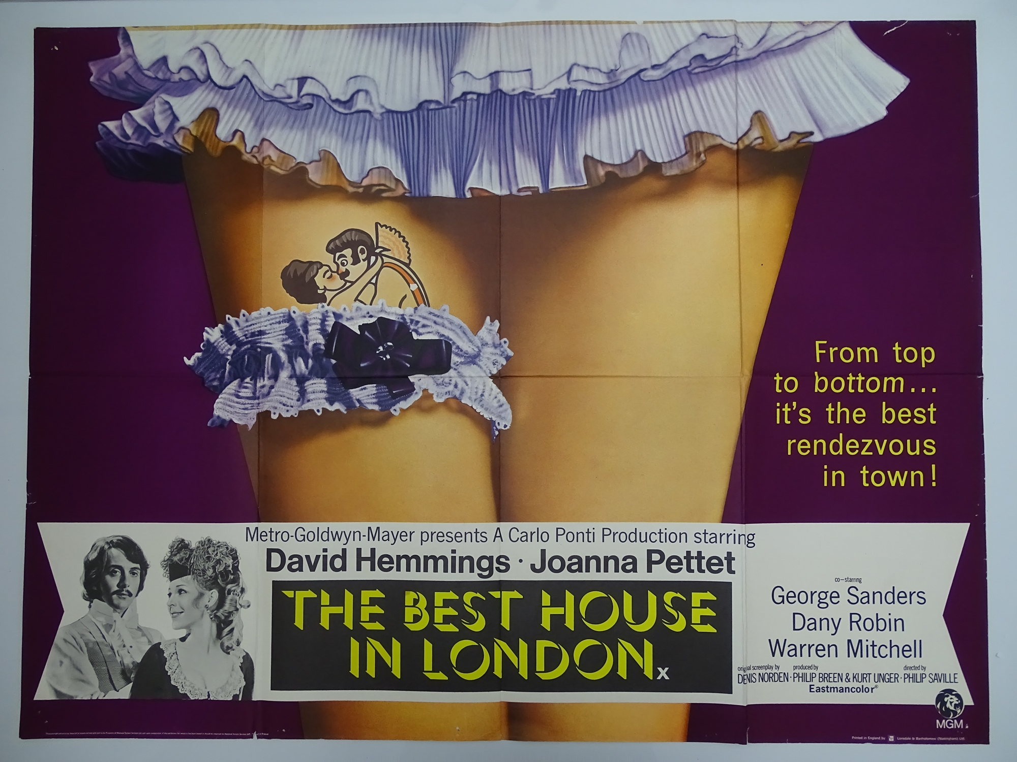Selection of UK Quad Film Posters: FORBIDDEN DECAMERON; DE L'AMOUR; LINE UP AND LAY DOWN / NURSES ON - Image 7 of 10