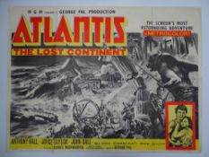 "ATLANTIS THE LOST CONTINENT (1961) - UK Quad Film Poster - 30"" x 40"" (76 x 101.5 cm)"