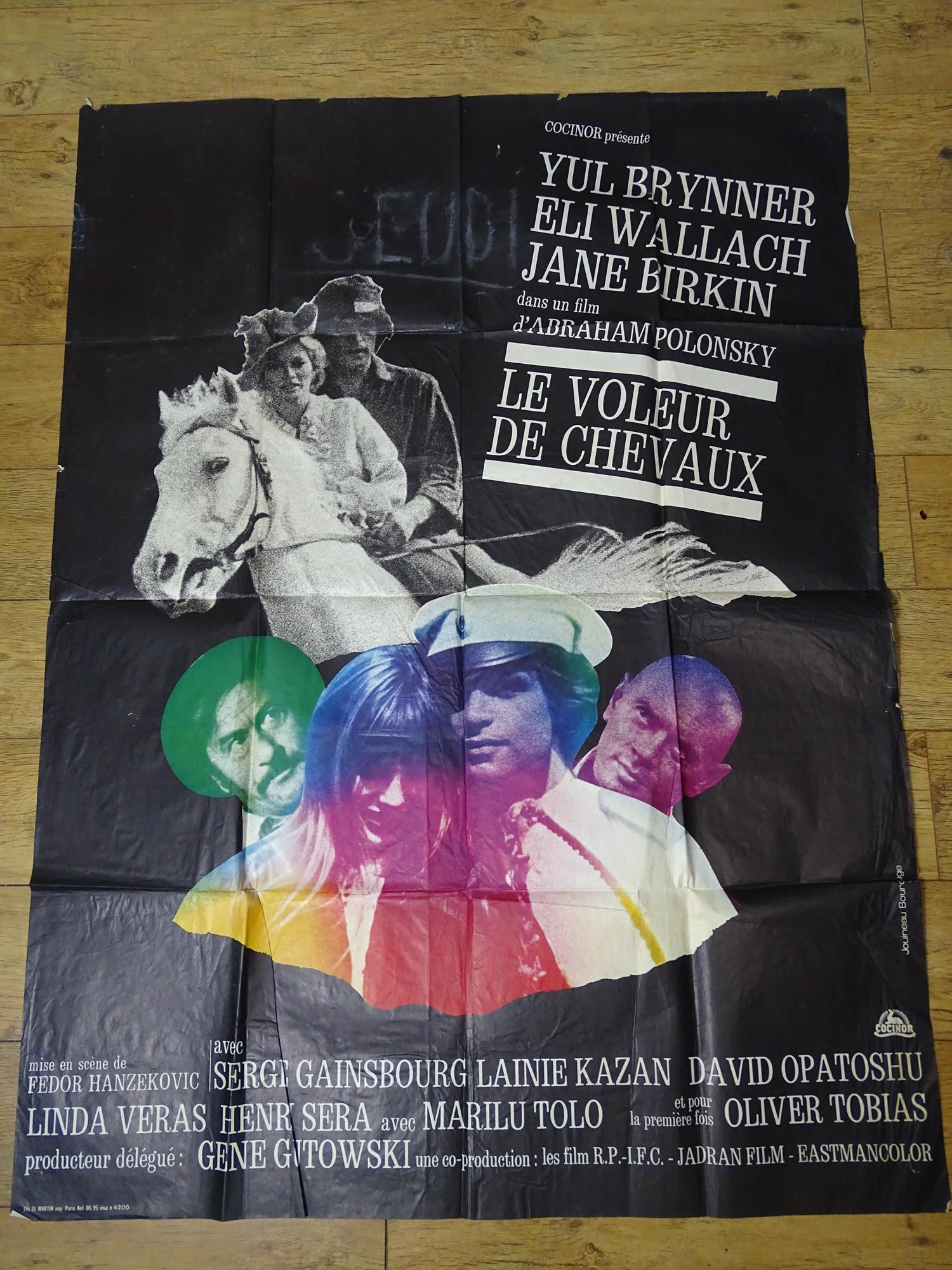 LE VOLEUR DE CHEVAUX (AKA LE ROMAN DE CHEVAUX) (ROMANCE OF A HORSE THIEF) 1971 - YUL BRYNNER / SERGE