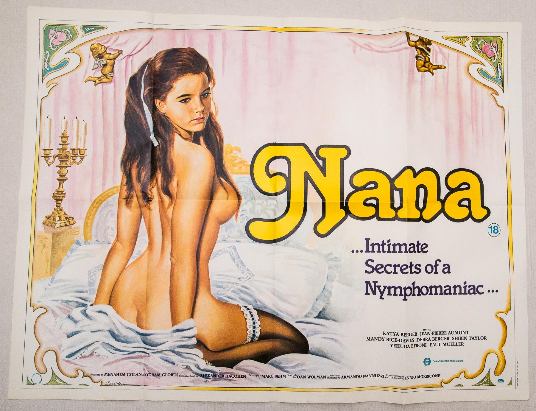 NANA (1982) - British UK Quad - TOM CHANTRELL artwork of Katya Berger the titular Nana - Folded (