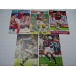 AUTOGRAPHS: 1990S/2000S FOOTBALLERS - WEST HAM FOOTBALL CLUB: A selection of 5 autographed