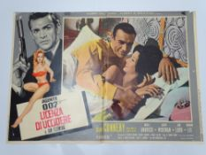 JAMES BOND: DR NO (1963) and THUNDERBALL (1965) - One Italian Photobusta from each film