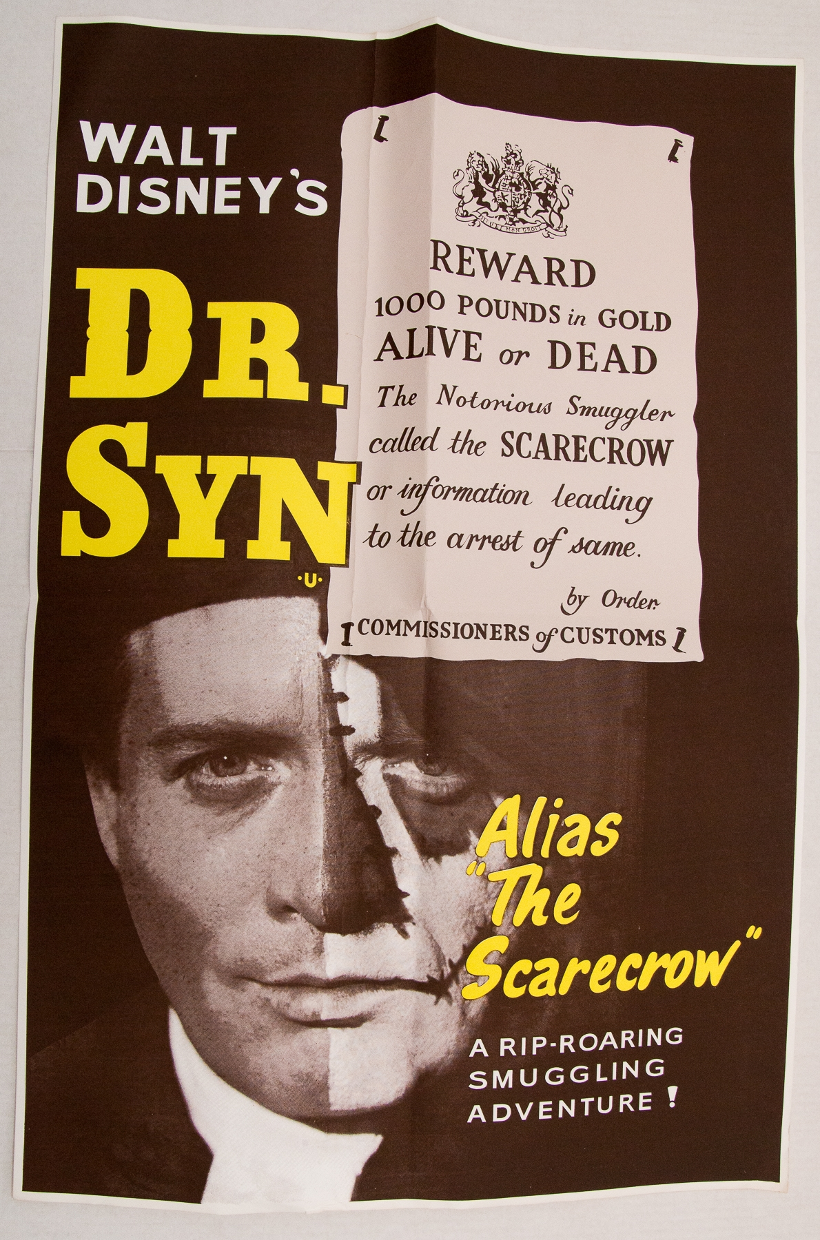 DR SYN (1963) (alias the Scarecrow) - re-release UK Double Crown - Folded - Very Good
