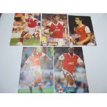 AUTOGRAPHS: 1990S/2000S FOOTBALLERS - ARSENAL FOOTBALL CLUB: A selection of 5 autographed
