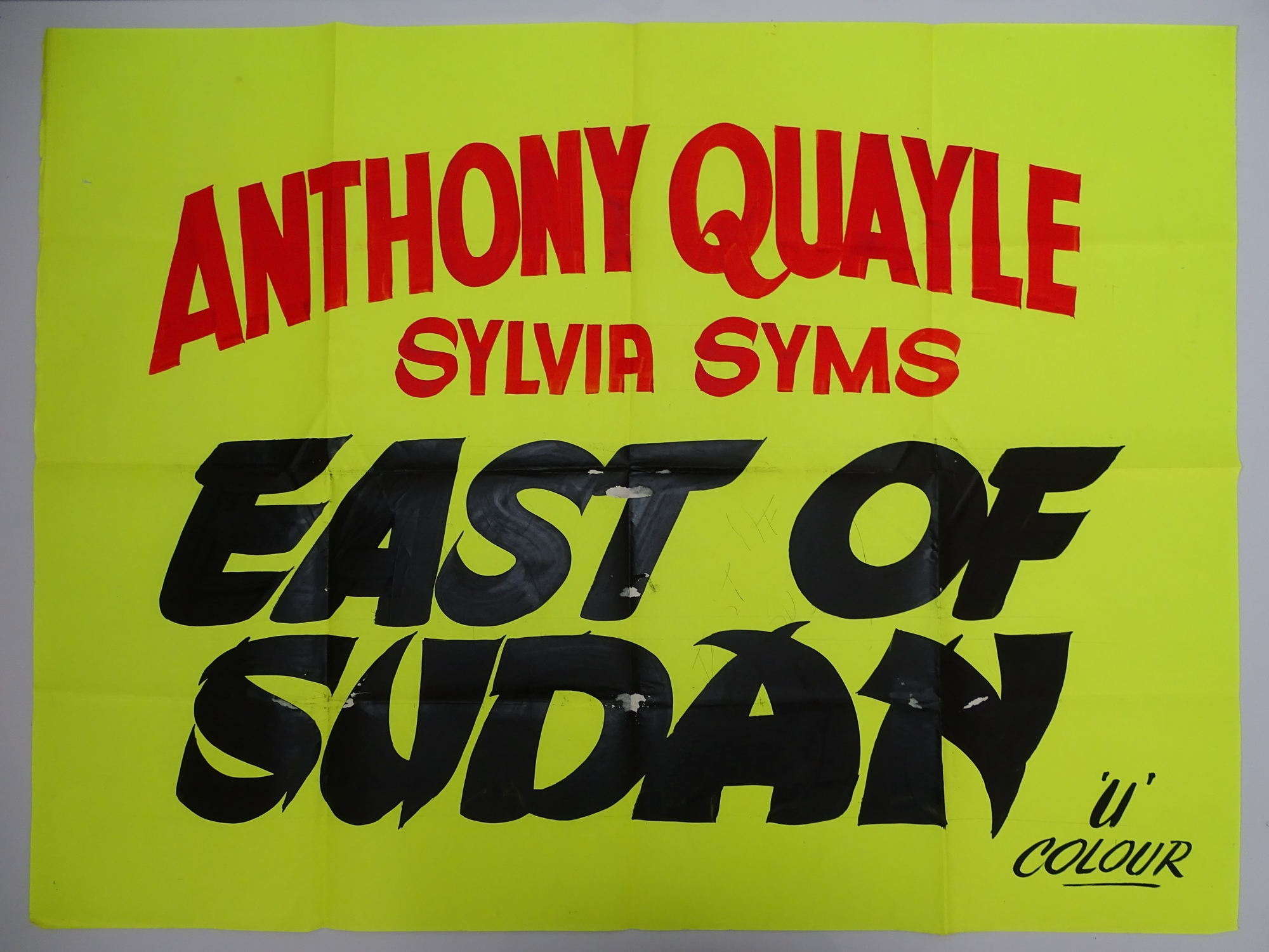 A selection of hand written - British UK Quad film posters - an important part of film history - - Image 3 of 9