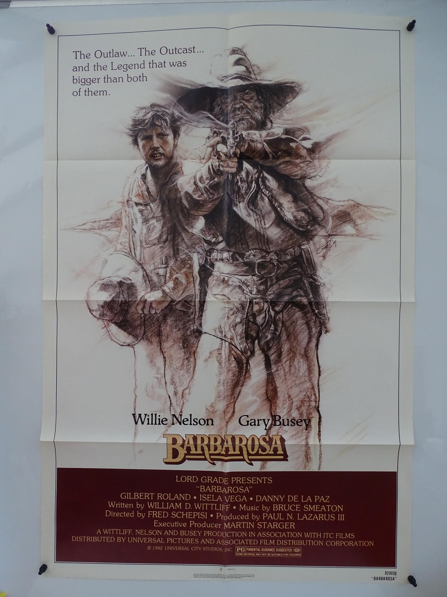 BARBAROSA (1982) - Western starring WILLIE NELSON and GARY BUSEY