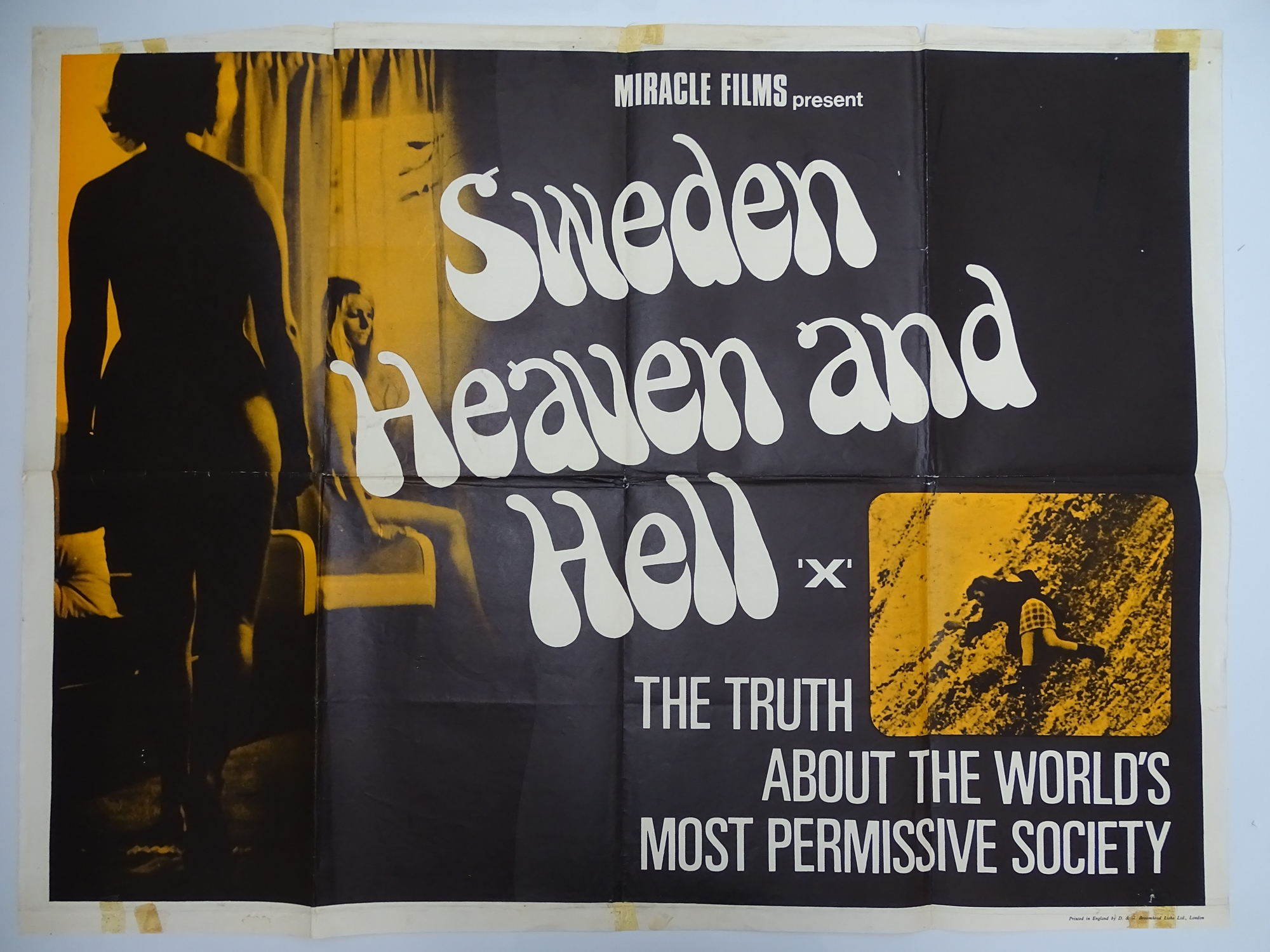 Selection of UK Quad Film Posters: FORBIDDEN DECAMERON; DE L'AMOUR; LINE UP AND LAY DOWN / NURSES ON - Image 10 of 10