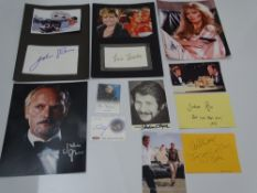 AUTOGRAPHS: JAMES BOND: A group of autographs FOR YOUR EYES ONLY and A VIEW TO A KILL - mainly