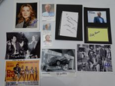 AUTOGRAPHS: JAMES BOND: PRODUCTION TEAM: A group of autographs - mainly signed photographs to