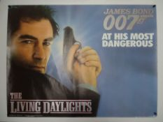 JAMES BOND: THE LIVING DAYLIGHTS (1987) - Advance Design - UK Quad Film Poster - Photographic Design