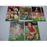 AUTOGRAPHS: 1960S /1980S FOOTBALLERS - WEST HAM FOOTBALL CLUB: A selection of 5 autographed pictures