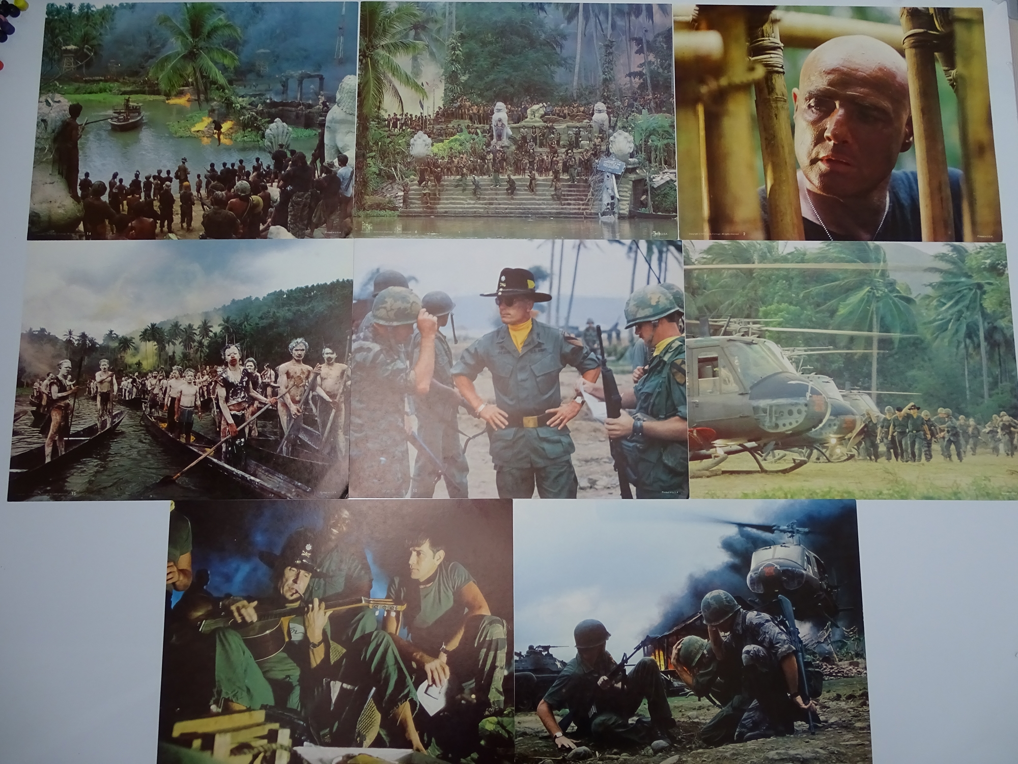 APOCALYPSE NOW (1979) - 16 colour US Movie Stills - Flat as issued - Image 2 of 2