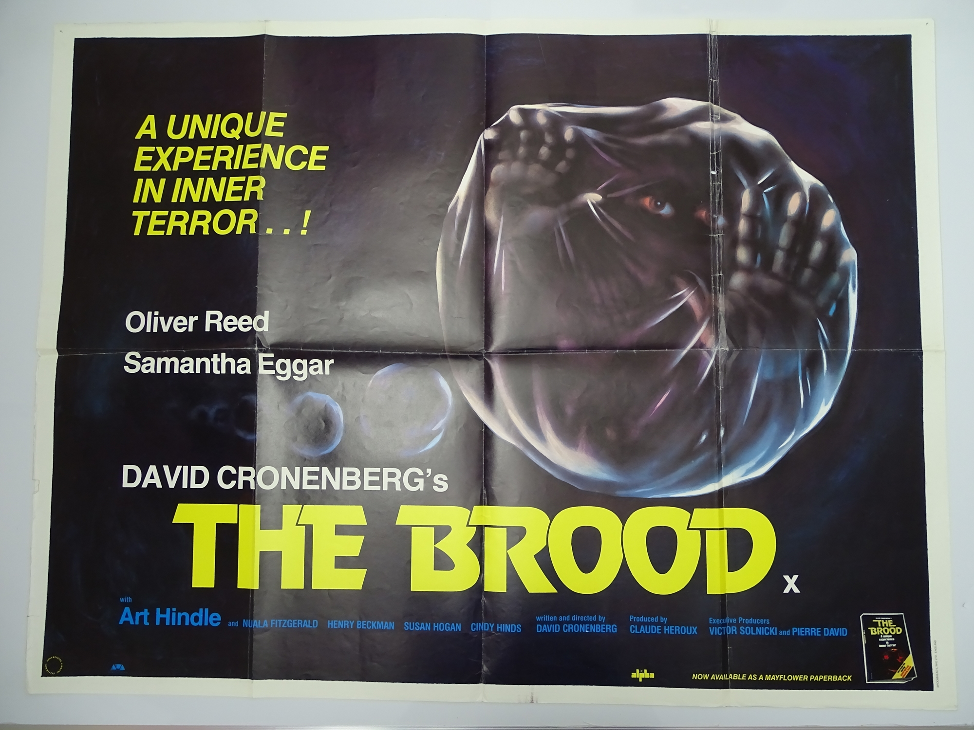 Group of 1970s/80s - UK Quad Film Posters: ANDROID (1982); THE BROOD (1979); SLAVERS (1978); - Image 2 of 6