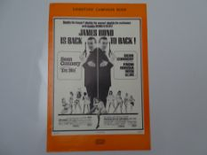 JAMES BOND - DOUBLE BILL - DR NO / FROM RUSSIA WITH LOVE (1963) - Press Campaign Book - No Cuts or