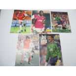 AUTOGRAPHS: 1960S /1980S FOOTBALLERS - ARSENAL FOOTBALL CLUB: A selection of 5 autographed