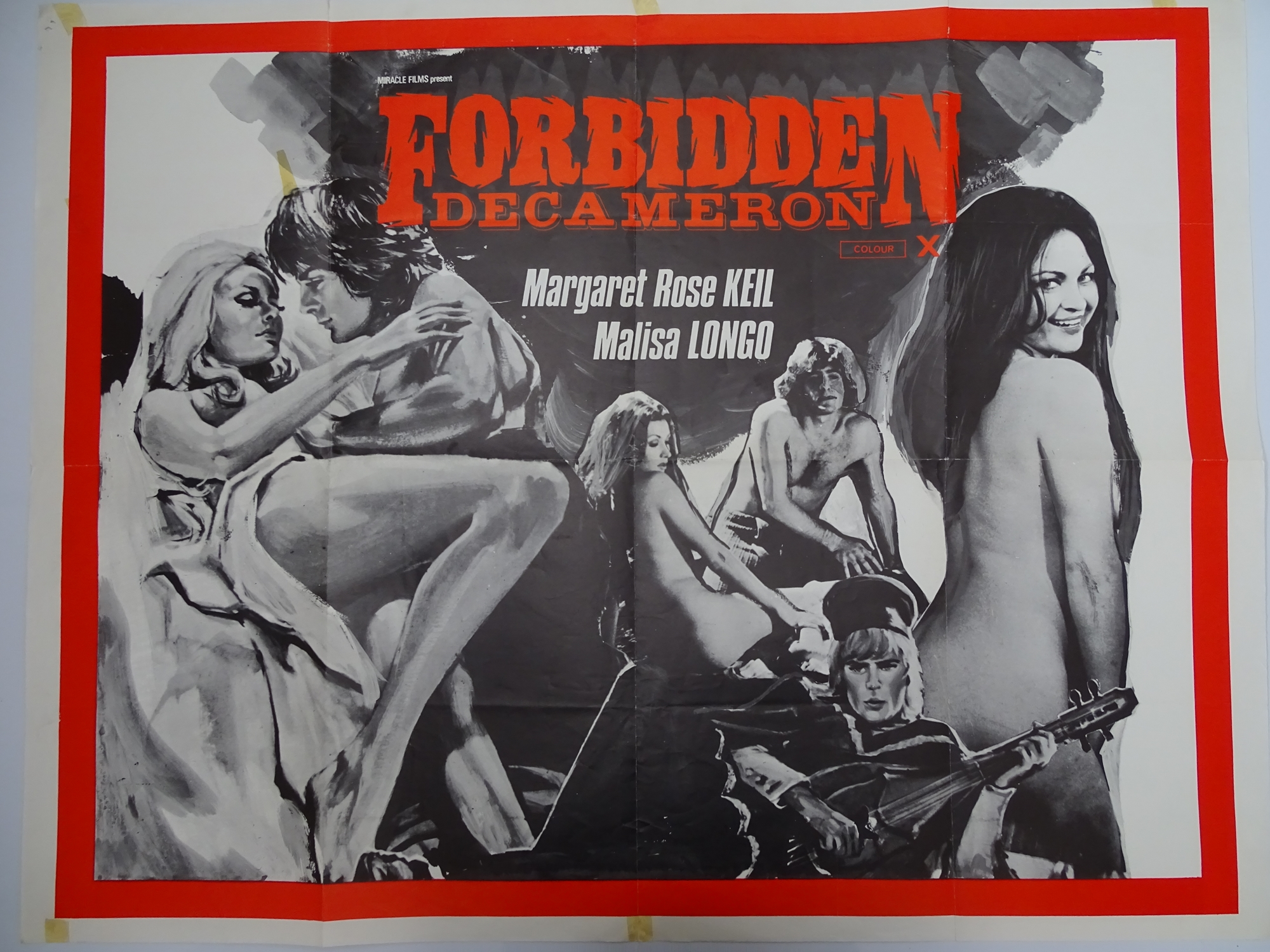 Selection of UK Quad Film Posters: FORBIDDEN DECAMERON; DE L'AMOUR; LINE UP AND LAY DOWN / NURSES ON - Image 3 of 10