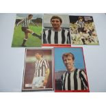 AUTOGRAPHS: 1960S /1980S FOOTBALLERS - NEWCASTLE FOOTBALL CLUB: A selection of 5 autographed