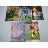 AUTOGRAPHS: 1970S/ 1990S FOOTBALLERS - EVERTON FOOTBALL CLUB: A selection of 5 autographed