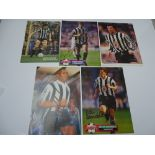 AUTOGRAPHS: 1980S/1990S FOOTBALLERS - NEWCASTLE FOOTBALL CLUB: A selection of 5 autographed pictures