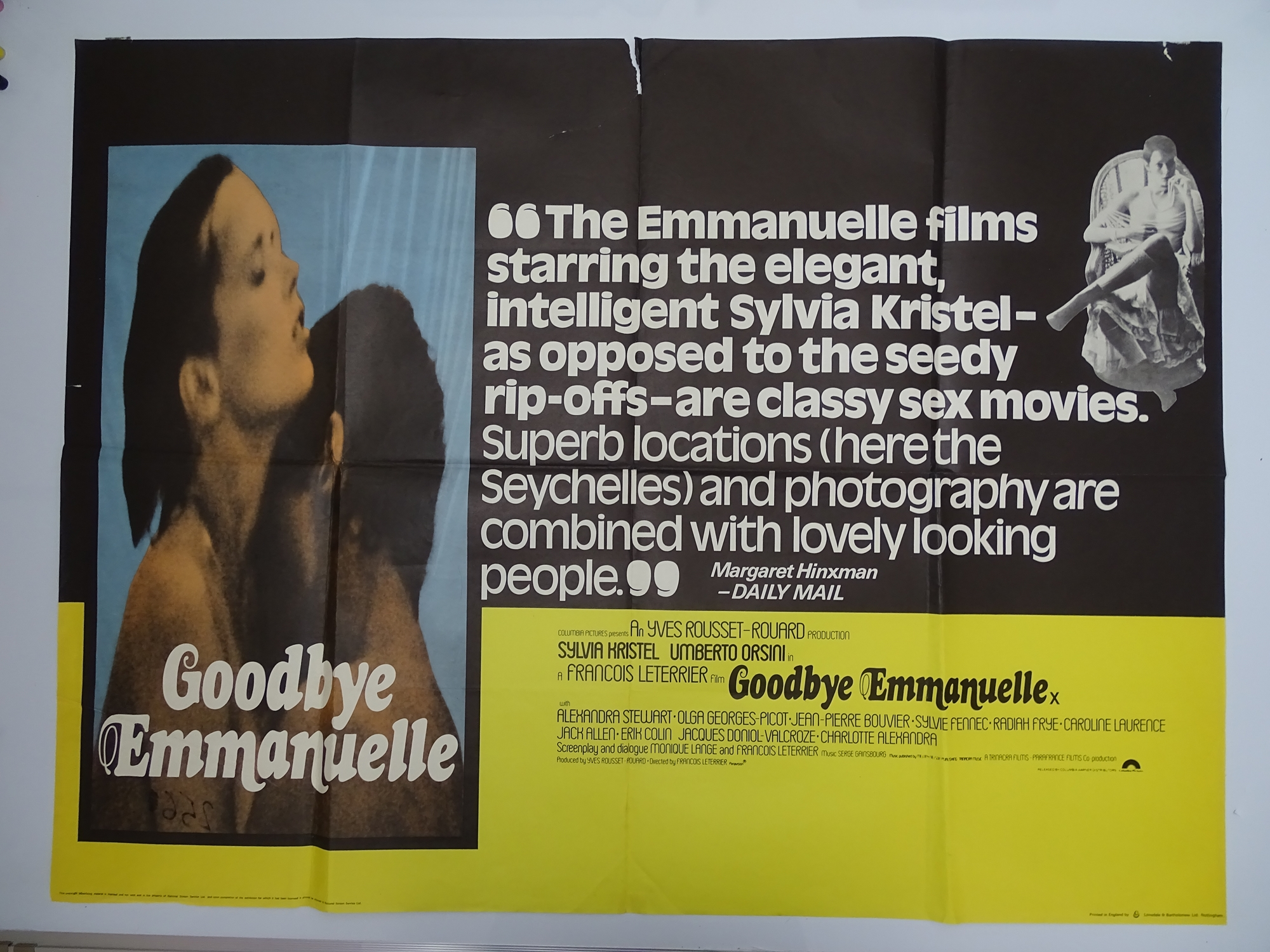 Selection of UK Quad Film Posters: DON'T GET YOUR KNICKERS IN A TWIST / MOST GIRLS WILL; GOODBYE - Image 2 of 9